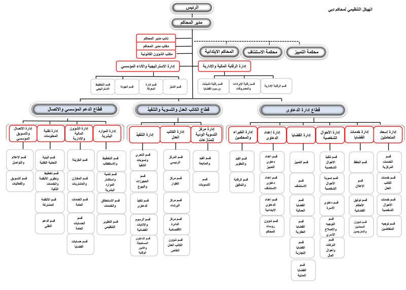 الهيكل التنظيمي العام